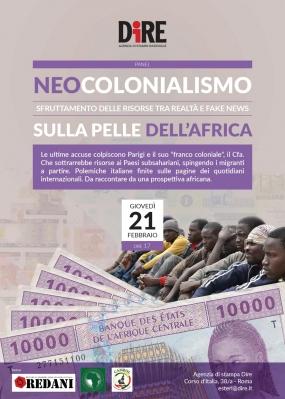 21 Febbraio ore 17 - Neocolonialismo sulla pelle dell'Africa