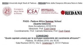 PASS - Padova African Summer School (Quarta Edizione)